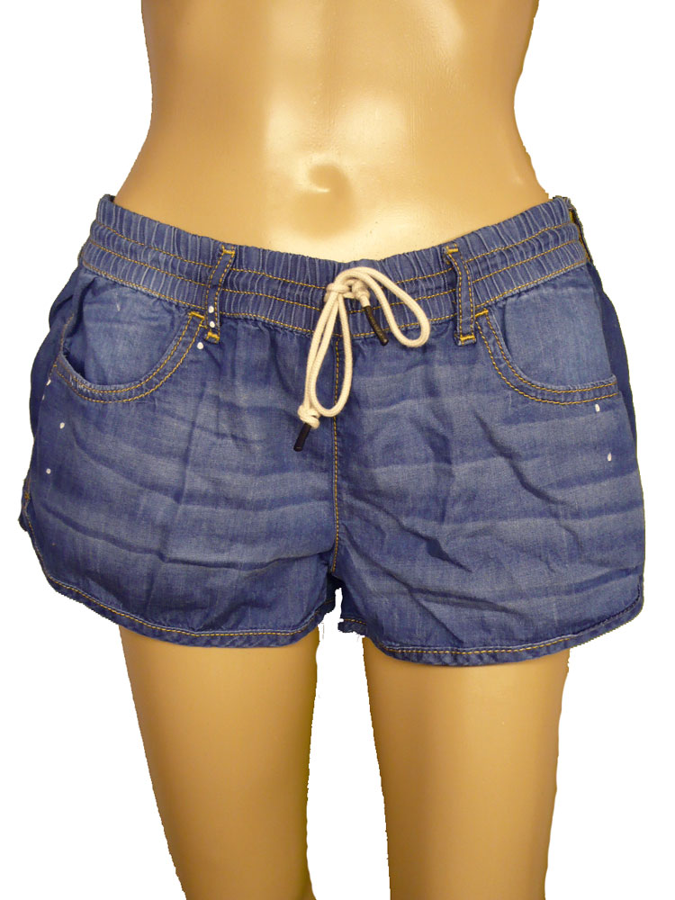 adidas neo damen boardshort denim jeans short hot pant hose blau ebay. Black Bedroom Furniture Sets. Home Design Ideas